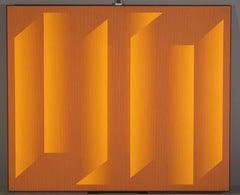 """Transition""    (OP Art, Shades of Orange)"