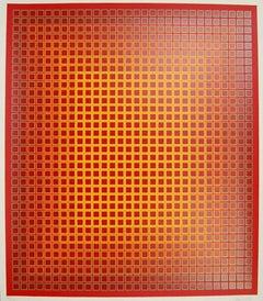 Sequential Chroma, Limited Edition Silkscreen, Julian Stanczak