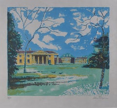 Downing College Cambridge: Julian Trevelyan - lithograph Modern British Art