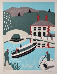 Julian Trevelyan Lock Keeper's Cottage Lithograph 1975 Modern British Art Print