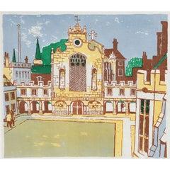 Julian Trevelyan RA, Peterhouse College Cambridge proof print (1959/62)
