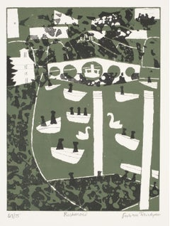 Julian Trevelyan Richmond Park London Etching Modern British Art Print Twentieth
