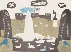 Julian Trevelyan St. James's Park London Etching Modern British Art Print UK