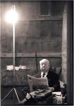 Alfred Hitchcock on the Set of Marnie