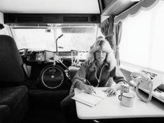 Farrah Fawcett writing in her journal, 1976