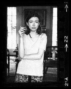 Joan Didion, Hollywood, 1968 (22-2) Three Quarters Portrait