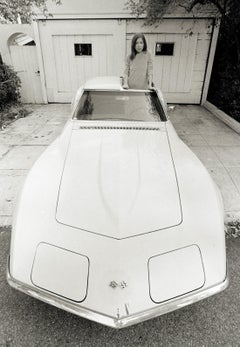 Joan Didion Standing in Stingray, 1968 Los Angeles
