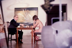 Marcel Duchamp And Eve Babitz playing. Chess at the Pasadena Art Museum 1963