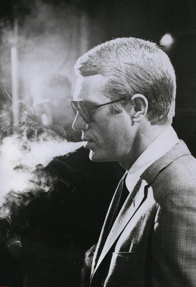 Julian Wasser Black and White Photograph - Steve McQueen, 1963