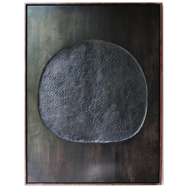 "Julian Watts ""New Moon"" Black Painting For Sale"