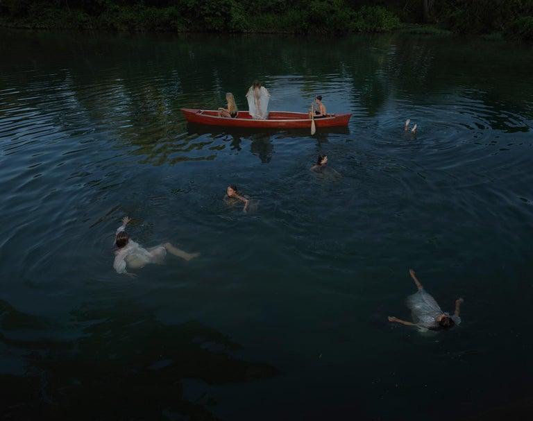 Julie Blackmon Color Photograph - Night Swim