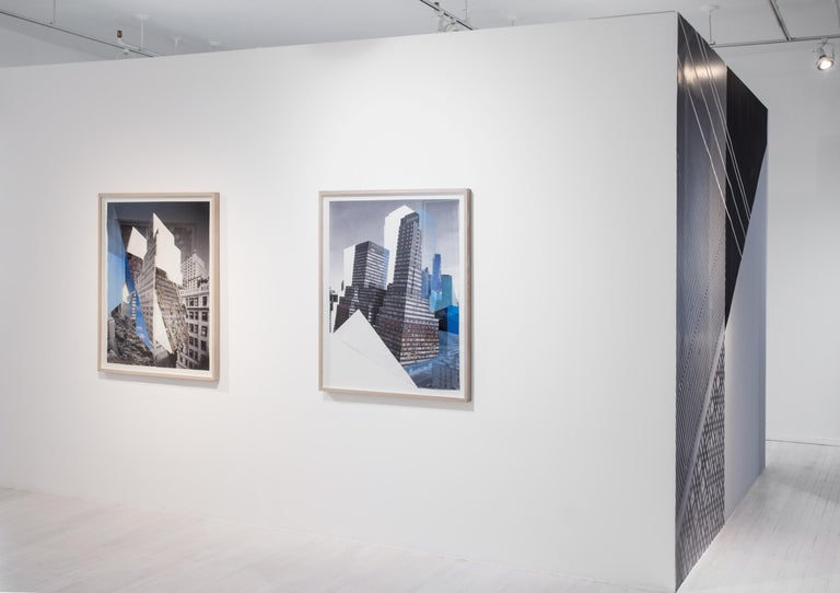 Slide, New York City, Architecture, Whitewall Street  - Contemporary Mixed Media Art by Julie Boserup