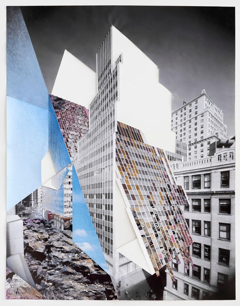 Slide, New York City, Architecture, Whitewall Street  - Mixed Media Art by Julie Boserup