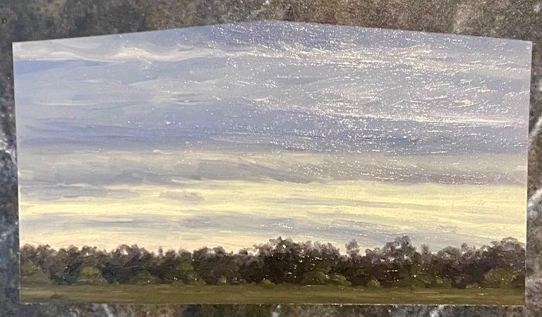 Julie Bozzi Americana Landscape Oil Painting Trompe L'oeil Frame Woman Artist For Sale 1