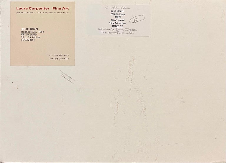 Julie Bozzi Americana Landscape Oil Painting Trompe L'oeil Frame Woman Artist For Sale 2