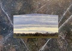 Julie Bozzi Americana Landscape Oil Painting Trompe L'oeil Frame Woman Artist