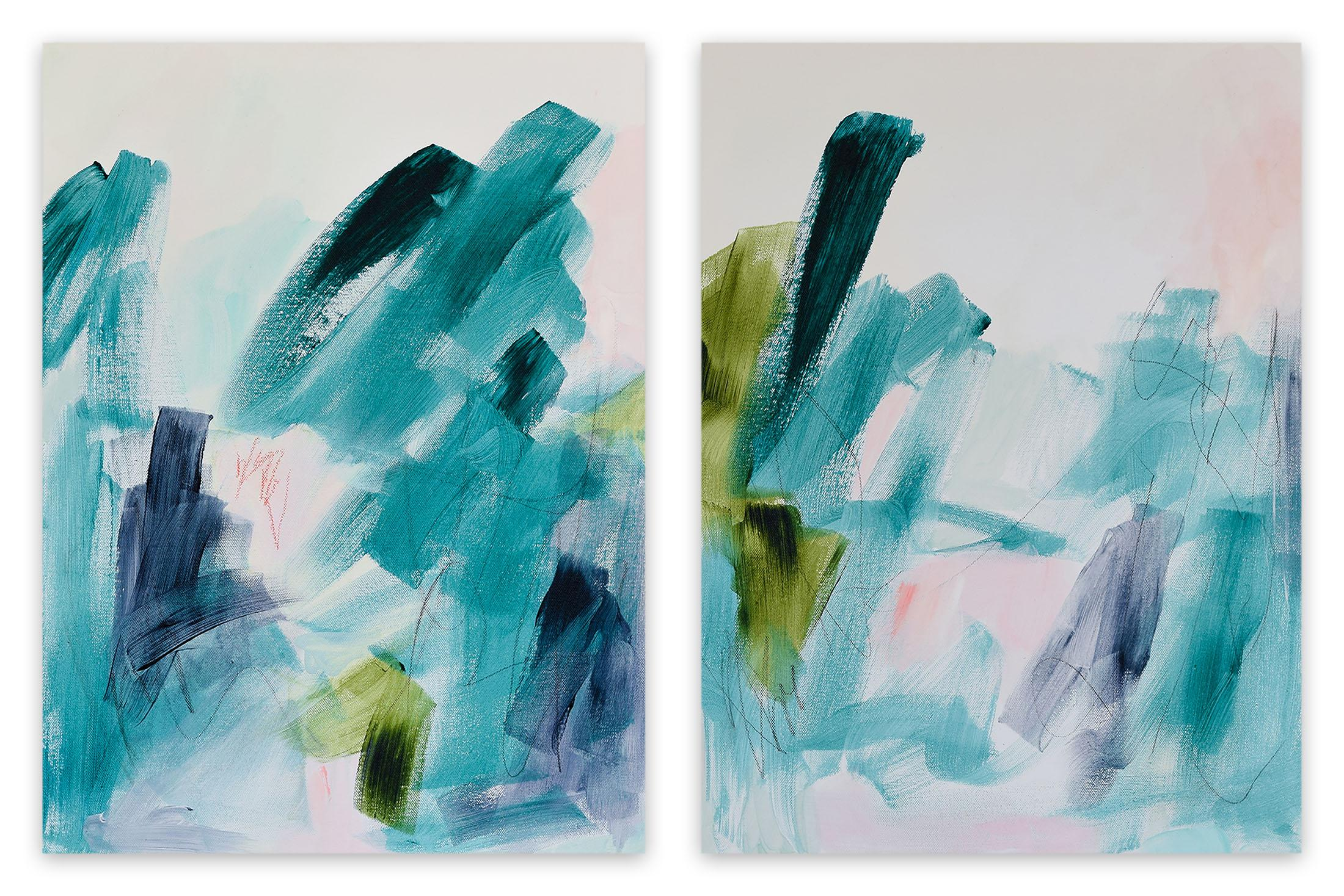 Field Notes No.1-2 (Abstract painting)