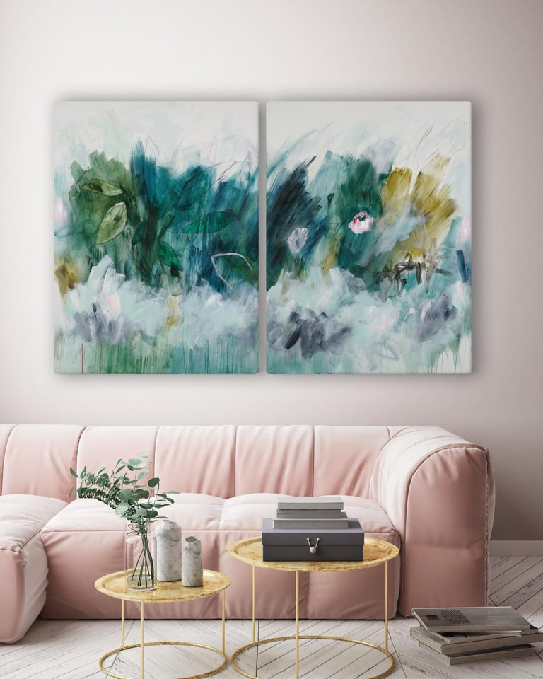 Sub-tropical (Abstract painting) - Painting by Julie Breton