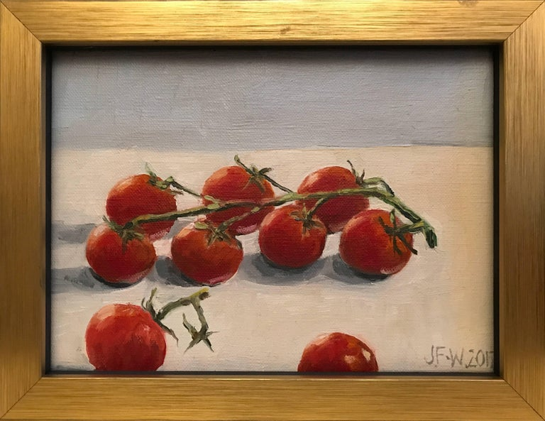 Julie Fleming Williams Still-Life Painting - Ripe tomatoes