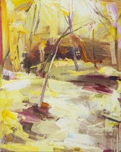 Architectual Heart - warm, vibrant, intimate, landscape, oil, acrylic on canvas