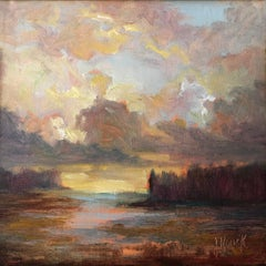 Breaking Through by Julie Houck, Post-Impressionist Landscape Oil Painting