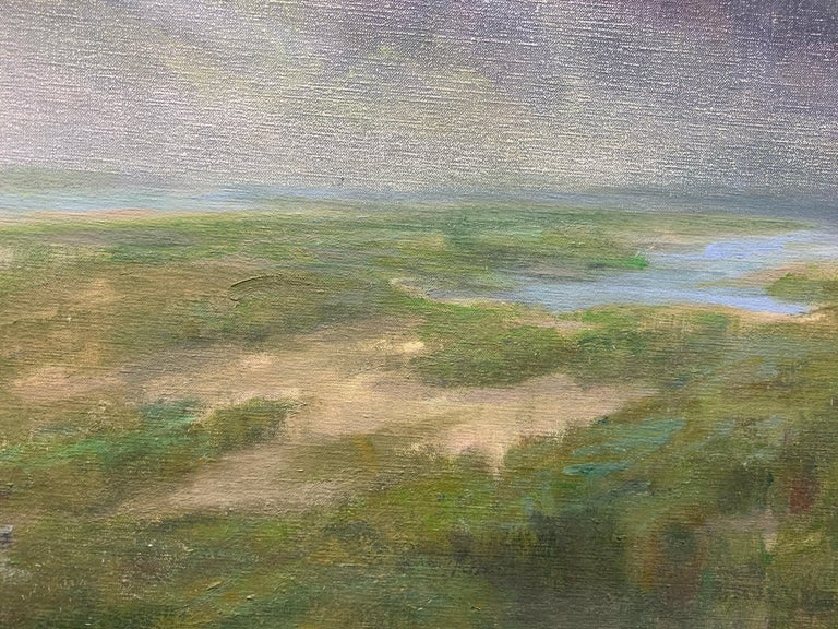 Follow Me by Julie Houck, Oil on Linen Post-Impressionist Painting with Green For Sale 5