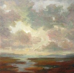 Moody Morning by Julie Houck, Framed Post-Impressionist Landscape Painting