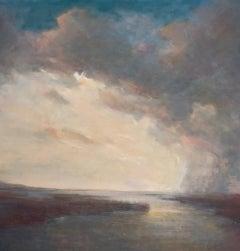 Rain Line by Julie Houck, Framed Post-Impressionist Landscape Painting