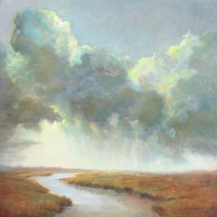 Squall Line Julie Houck, Oil on Linen Post-Impressionist Painting