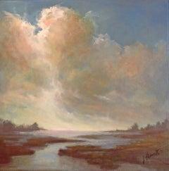 Suggestion by Julie Houck, Framed Post-Impressionist Landscape Painting