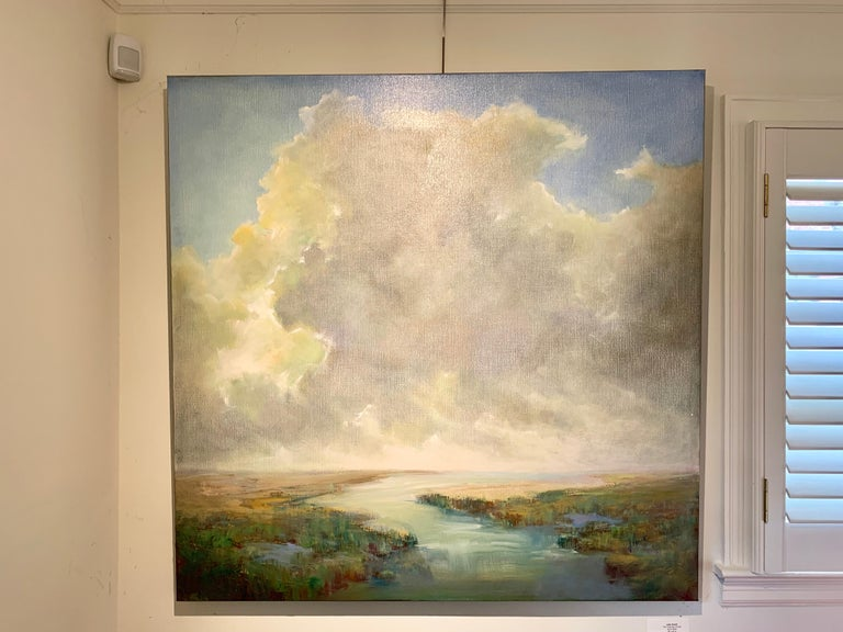 The Clearing Clouds by Julie Houck, Oil on Linen Post-Impressionist Painting For Sale 1