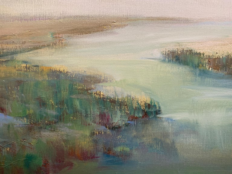 The Clearing Clouds by Julie Houck, Oil on Linen Post-Impressionist Painting For Sale 3