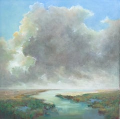 The Clearing Clouds by Julie Houck, Oil on Linen Post-Impressionist Painting