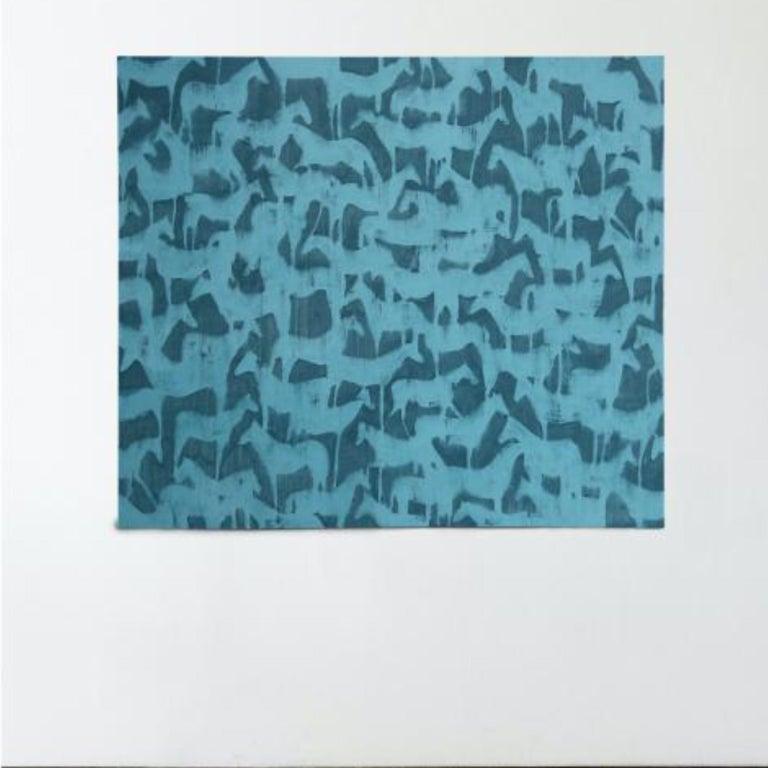 HORSES - Modern Painting by Julie Sneed