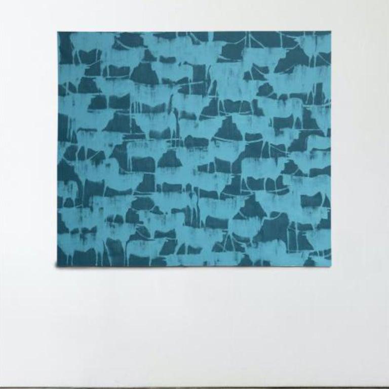 LONGHORNS - Modern Painting by Julie Sneed