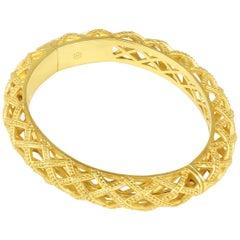 Julie Vos Loire Hinge Gold Bangle