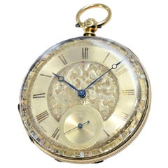 Julien 18 Karat Yellow Gold Keywinding Pocket Watch, circa 1840s