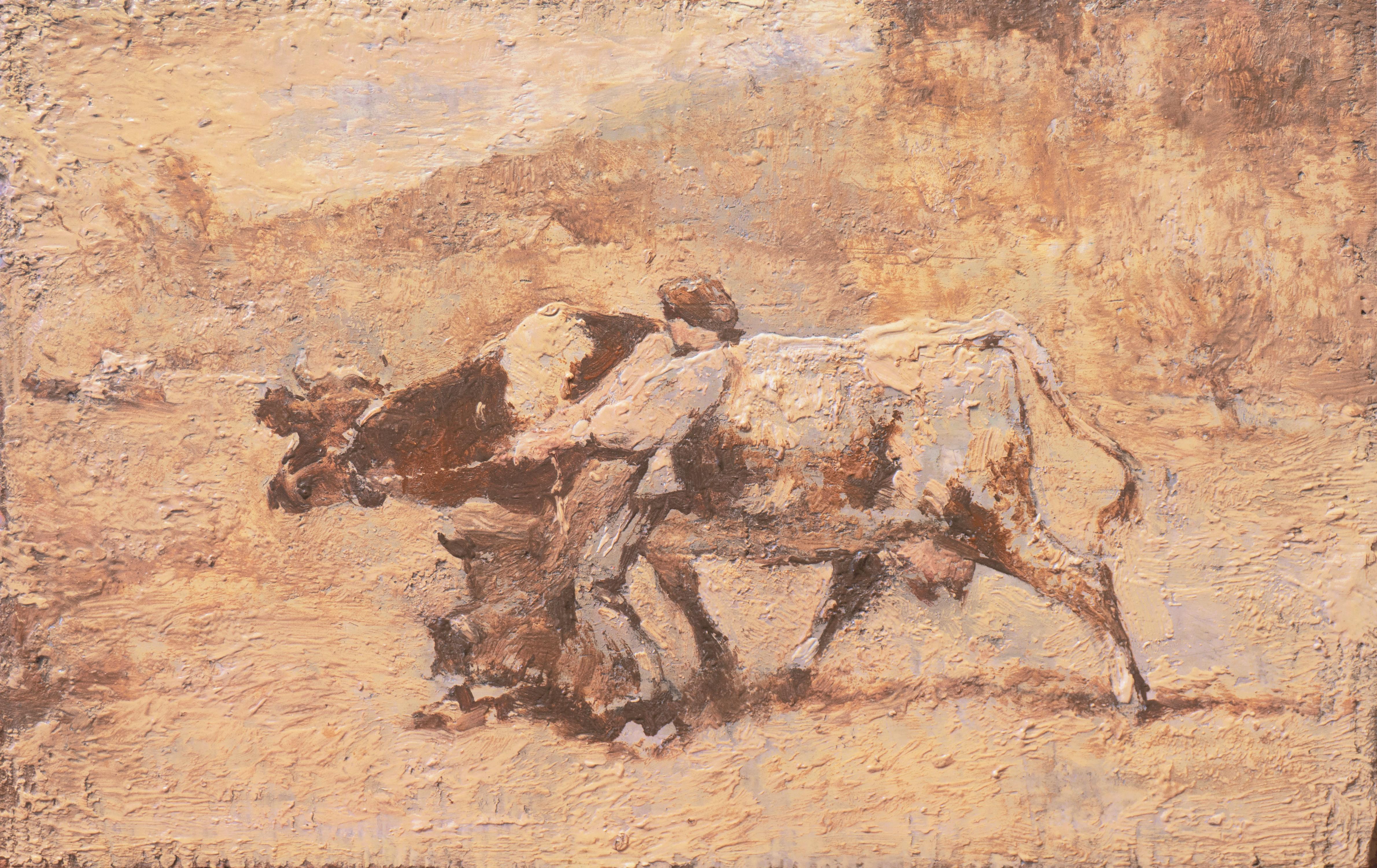 'Bretonne Cowherd in Pasture', Barbizon, Proto-Impressionism, Paris, Brittany