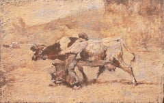 'Bretonne Cowherd in Pasture', Barbizon, Proto-Impressionism, Paris, Brittany