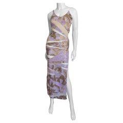Julien Macdonald Beads and Sequins Color Block Gown
