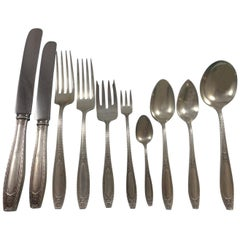 Juliet by Wallace Sterling Silver Flatware Dinner Set of 125 Pieces