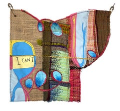 Handwoven textile wall hanging: 'I Can't'