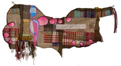 Handwoven textile wall hanging: 'No, I Feel Worse'