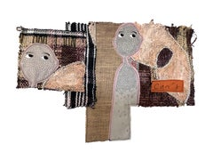 Handwoven textile wall hanging: 'Scarlett'