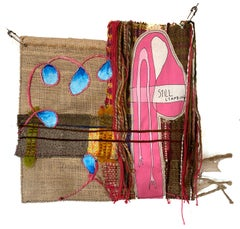 Handwoven textile wall hanging: 'Still Standing'