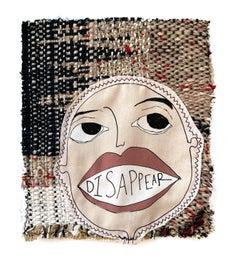 Handwoven textile wall hanging: 'Tarot Cards 09'