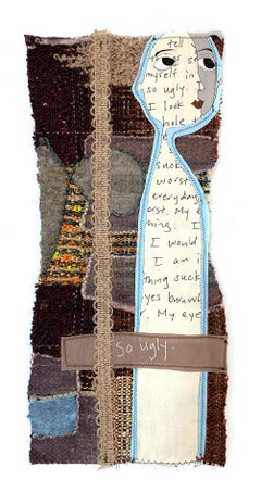 Small textile wall hanging: 'Charlotte'
