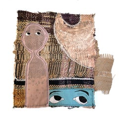 Small textile wall hanging: 'Haisley'