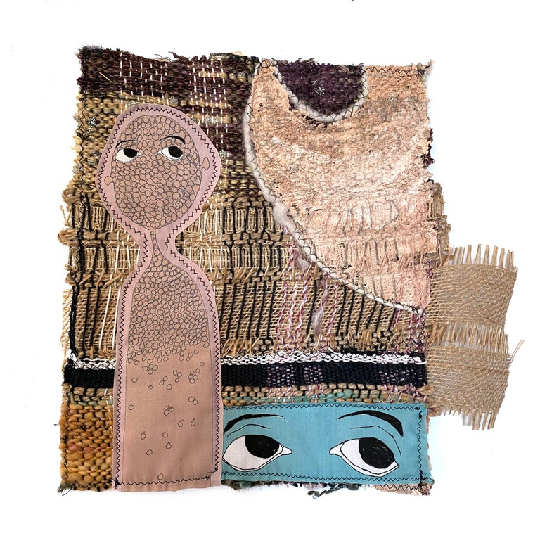 Small textile wall hanging: 'Haisley' - Mixed Media Art by Juliet Martin