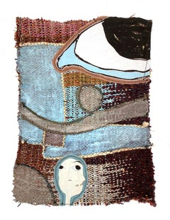 Small textile wall hanging: 'Lucy'